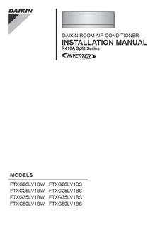 ftxg ls daikin rh daikin com mt Daikin Heat Pump Manual daikin super inverter r410a operation manual