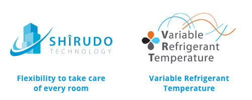 Shîrudo technology: Flexibility to take care of every room - Variable Refrigerant Temperature